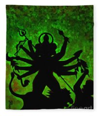 Ma Durga-4 Fleece Blanket