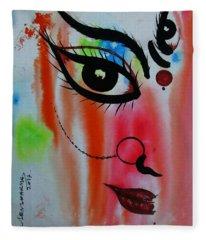 Ma Durga-5 Fleece Blanket