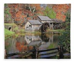 Mabry Mill On The Blue Ridge Parkway Fleece Blanket