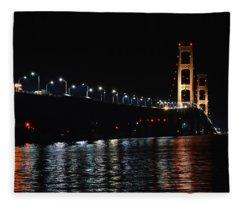 Mackinac Lights Fleece Blanket