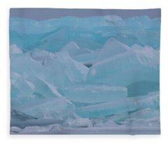 Mackinaw City Ice Formations 21618010 Fleece Blanket