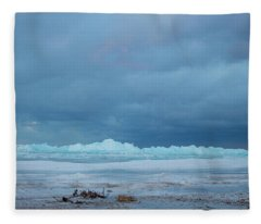 Mackinaw City Ice Formations 21618011 Fleece Blanket