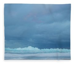 Mackinaw City Ice Formations 21618012 Fleece Blanket