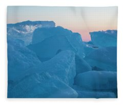 Mackinaw City Ice Formations 2161804 Fleece Blanket