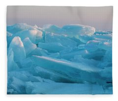 Mackinaw City Ice Formations 2161807 Fleece Blanket