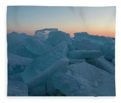 Mackinaw City Ice Formations 2161808 Fleece Blanket
