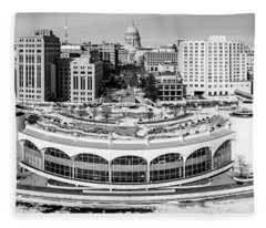 Mad City Monochrome Fleece Blanket