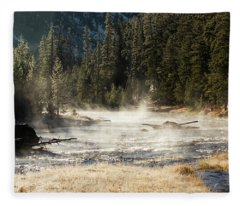 Madison River Morning Fleece Blanket