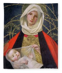 Madonna And Child By Marianne Stokes Fleece Blanket