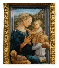 Madonna And Child Lippi The Uffizi Gallery Florence Italy Fleece Blanket