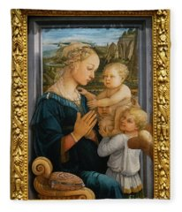 Madonna And Child Lippi The Uffizi Gallery Florence Italy Fleece Blanket