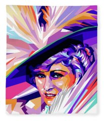 Mae West Pop Art Fleece Blanket