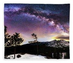 Magic Above Rocky Mountain National Park Fleece Blanket