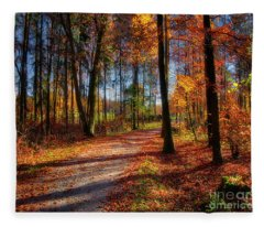 Magic Of The Forest Fleece Blanket