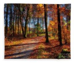 Magic Of The Forest Fleece Blanket