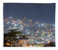 Magic Of Zihuatanejo Bay Fleece Blanket