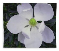 Magnolia Flower Photo F9718 Fleece Blanket