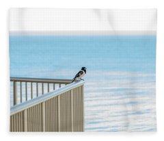 Magpie In Waiting Fleece Blanket