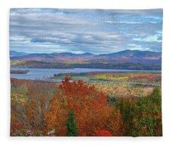 Maine Fall Colors Fleece Blanket