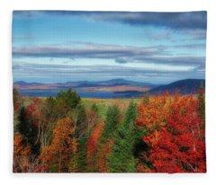 Maine Fall Foliage Fleece Blanket