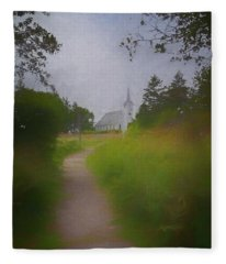 Maine Island Chapel Fleece Blanket