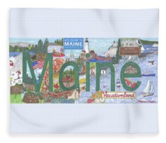 Maine Fleece Blanket