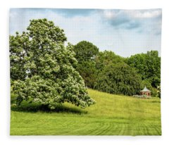 Majestic Catalpa At Winterthur Fleece Blanket