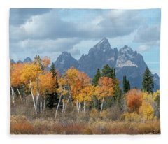 Majestic Fall - Grand Teton  Fleece Blanket