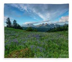 Majestic Mountain Morning Fleece Blanket