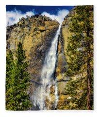 Majestic Upper Yosemite Fall Fleece Blanket