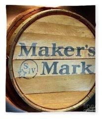 Makers Mark Barrel Fleece Blanket