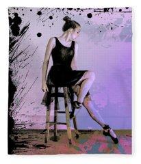 Maksim Grunge Ballet Dancer Fleece Blanket