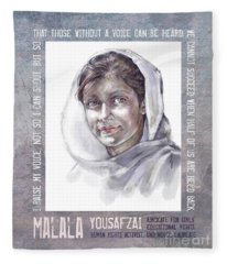 Malala Fleece Blanket