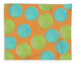 Malaysian Batik Polka Dot Print Fleece Blanket