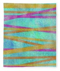 Malaysian Tropical Batik Strip Print Fleece Blanket