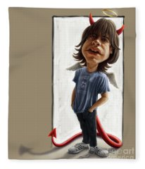 Malcolm Young Caricature Fleece Blanket