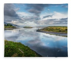 Malibu Lagoon To Santa Monica Skyline Fleece Blanket
