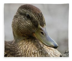 Mallard Hen Fleece Blanket