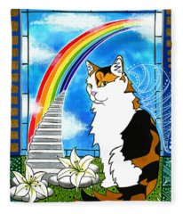 Mama Turtle - Cat Painting Fleece Blanket