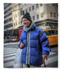 Man Vs. City Fleece Blanket