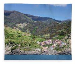 Manarola Cinque Terre Italy Fleece Blanket