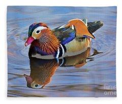 Mandarin Duck Central Park 3 Fleece Blanket