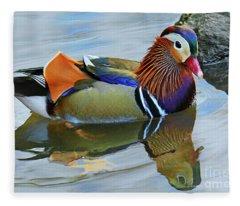 Mandarin Duck Central Park 5 Fleece Blanket