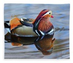 Mandarin Duck Central Park 6 Fleece Blanket