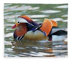 Mandarin Duck- Central Park 8 Fleece Blanket