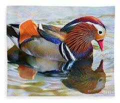 Mandarin Duck-central Park 10 Fleece Blanket