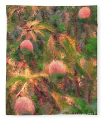 Mango Tree Impression Fleece Blanket