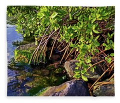 Mangrove Bath Fleece Blanket