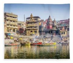 Manikarnika Varanasi Fleece Blanket