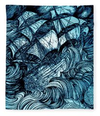 Manuscript Found In A Bottle By Edgar Allan Poe Illustration By Arthur Rackham Fleece Blanket